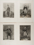 Books:Prints & Leaves, Four Engraved Prints of American Historical Figures. Johnson, Fry,1862. Approx. 10.75 x 8.25 inches. Very good....