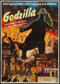 "Movie Posters:Science Fiction, Godzilla (Atrium-Film, 1956). German A1 (23.5"" X 33""). ScienceFiction.. ..."