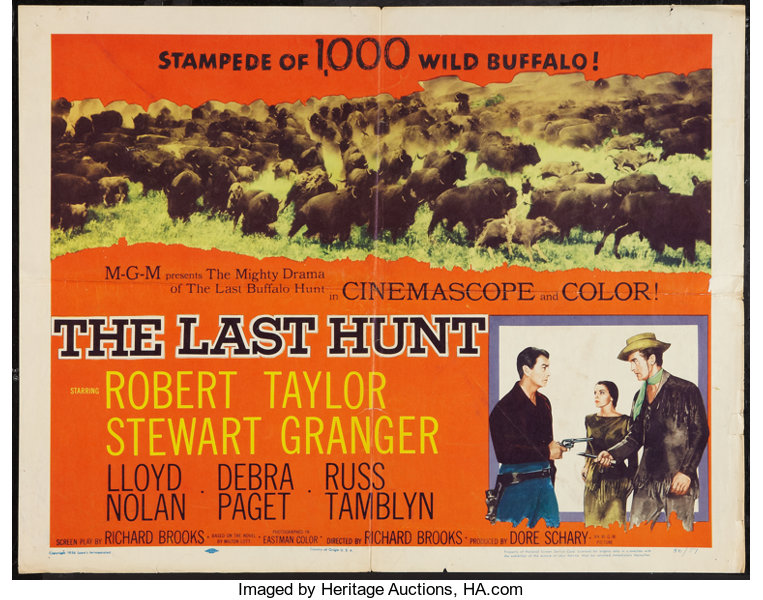 the last hunt 1956 poster