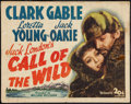 "Movie Posters:Adventure, The Call of the Wild (United Artists, R-1943). Half Sheet (22"" X28""). Adventure.. ..."