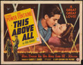 """Movie Posters:War, This Above All (20th Century Fox, 1942). Half Sheet (22"""" X 28"""").Style A. War.. ..."""