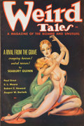 Mainstream Illustration, Weird Tales pulp. 1/36, 1 total. Average condition: VG/Fine.From the Jerry Weist Collection.. ...