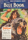 Pulp, Pulp-like, Digests, and Paperback Art, Tarzan, At the Earth's Core, Blue Book Magazine, pulp group. 10/29-12/29 and 1/30-3/30, 6 total. Average condition: VG/Fine... (Total:6 Items)