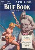 Pulp, Pulp-like, Digests, and Paperback Art, Fighting Man of Mars, Blue Book Magazine pulp group. 4/30- 5/30,7/30, and 9/30, 4 total. Average condition: VG/Fine. Fr...(Total: 4 Items)