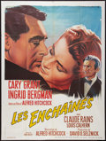 """Movie Posters:Hitchcock, Notorious (Les Films, R-1960s). French Grande (47"""" X 63""""). Hitchcock.. ..."""