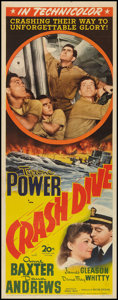 "Movie Posters:War, Crash Dive (20th Century Fox, 1943). Insert (14"" X 36""). War.. ..."