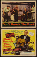 "Movie Posters:Rock and Roll, Don't Knock the Rock (Columbia, 1957). Title Lobby Card, Lobby Card(11"" X 14"") & Photos (4) (8"" X 10""). Rock and Roll.. ...(Total: 6 Items)"