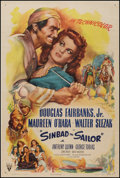 "Movie Posters:Adventure, Sinbad the Sailor (RKO, 1946). One Sheet (27"" X 41""). Adventure....."