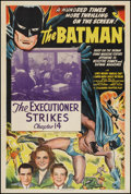 "Movie Posters:Serial, The Batman (Columbia, 1943). One Sheet (27"" X 41"") Chapter 14 --""The Executioner Strikes."" Serial.. ..."