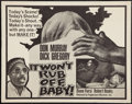"Movie Posters:Blaxploitation, It Won't Rub Off, Baby! (Peppercorn-Wormser, 1967). Half Sheet (22"" X 28""). Blaxploitation.. ..."