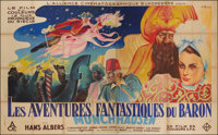 The Adventures of Baron Munchausen (L'Alliance Cinématographique Européenne, 1944) French Double Grande (6...