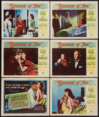 "Because of You and Other Lot (Universal International, 1952). Title Lobby Card and Lobby Cards (8) ( (11"" X 14""..."