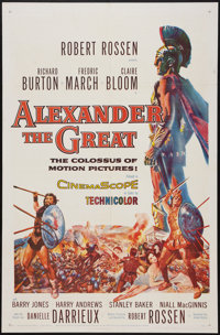 """Alexander the Great (United Artists, 1956). One Sheet (27"""" X 41"""") & Lobby Card Set (11"""" X 14"""")..."""