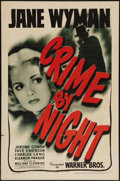 "Movie Posters:Crime, Crime by Night (Warner Brothers, 1944). One Sheet (27"" X 41"").Crime.. ..."