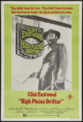 "Movie Posters:Western, High Plains Drifter (Universal, 1973). Australian One Sheet (27"" X 39.5""). Western.. ..."