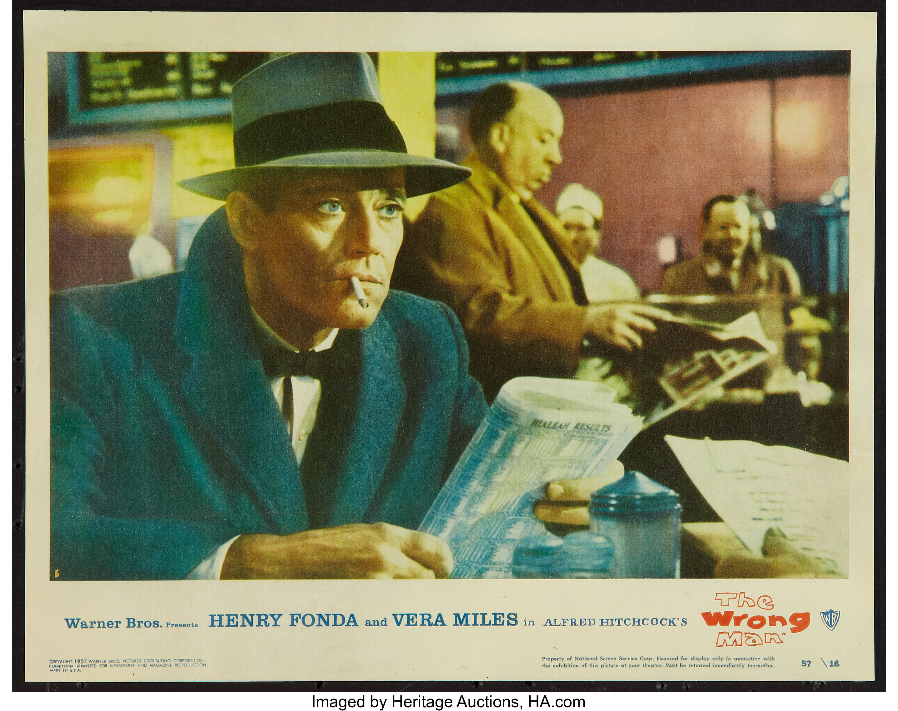 Hitchcock/'s The wrong man Henry Fonda movie poster