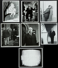 "Alfred Hitchcock Lot (1960s-1980s). Television Photos (4) (7.25"" X 9"") and Reprint Photos (3) (8"" X 10&qu..."