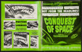 "Movie Posters:Science Fiction, Conquest of Space & Other Lot (Paramount, 1955). UncutPressbooks (2)(Multiple Pages, 12"" X 15"" & 14"" X 18""). ScienceFictio... (Total: 2 Items)"