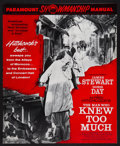 "Movie Posters:Hitchcock, The Man Who Knew Too Much (Paramount, 1956). Uncut Pressbook (24Pages, 12"" X 15""). Hitchcock.. ..."