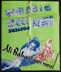 "Ali Baba and the Forty Thieves (Universal, 1944 & R-1948). Uncut Pressbooks (2) (11"" X 17"" & 1..."