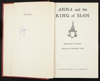Anna and the King of Siam (The King and I) Autographed by Deborah Kerr and Yul Brynner. (Longman's Green and Co., 1944)...