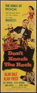"Movie Posters:Rock and Roll, Don't Knock the Rock (Columbia, 1957). Insert (14"" X 36""). Rock andRoll.. ..."