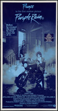 "Movie Posters:Rock and Roll, Purple Rain (Warner Brothers, 1984). Australian Daybill (13"" X25""). Rock and Roll.. ..."