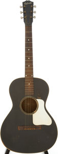 Musical Instruments:Acoustic Guitars, Late 1930s Gibson L-0 Black Acoustic Guitar, Serial # 370....