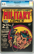 Golden Age (1938-1955):War, Military Comics #5 (Quality, 1941) CGC VG 4.0 Off-white to whitepages....