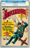 Golden Age (1938-1955):War, Blackhawk #34 (Quality, 1950) CGC FN/VF 7.0 Off-white pages....