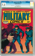 Golden Age (1938-1955):War, Military Comics #22 (Quality, 1943) CGC VF- 7.5 Off-white to whitepages....