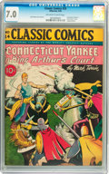 Golden Age (1938-1955):Classics Illustrated, Classic Comics #24 A Connecticut Yankee in King Arthur's Court -Original Edition (Gilberton, 1945) CGC FN/VF 7.0 Off-white to...