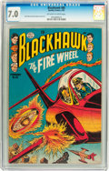 Golden Age (1938-1955):War, Blackhawk #85 (Quality, 1955) CGC FN/VF 7.0 Off-white to whitepages....