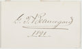 Autographs:Military Figures, Pierre Gustave Toutant Beauregard (1818-1893, Confederate Civil War General). Clipped Signature. Very good....