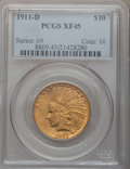 Indian Eagles, 1911-D $10 XF45 PCGS....
