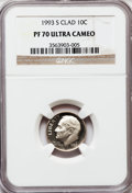 Proof Roosevelt Dimes, 1993-S 10C Clad PR70 Ultra Cameo NGC. NGC Census: (219). PCGSPopulation (226). Numismedia Wsl. Price for problem free NGC...