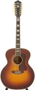 Musical Instruments:Acoustic Guitars, 1980s Guild JF-55-12 Sunburst Acoustic Guitar, Serial # FL100741....