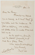 Autographs:Authors, Irvin S. Cobb (1876-1944, American Writer). Autograph Letter Signed. Very good....