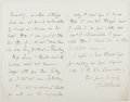 Autographs:Artists, Frederic W. Burton (1816-1900, Director of National PortraitGallery). Autograph Letter Signed. Very good....