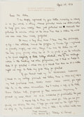 Autographs:Authors, Gladys Hasty Carroll (1904-1999, American Writer). Autograph Letter Signed. Near fine....