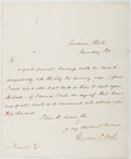 Autographs:Authors, Theodore Hook. (1788-1841, British Man of Letters). AutographLetter Signed. Very good....