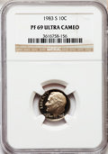 Proof Roosevelt Dimes: , 1983-S 10C PR69 Ultra Cameo NGC. NGC Census: (536/162). PCGSPopulation (2823/149). Numismedia Wsl. Price for problem free...