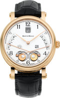 Timepieces:Wristwatch, Martin Braun Rose Gold EOS 42/S With Sunrise & Set Indication& Date. ...