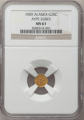 Alaska Tokens, Alaska AYPE (1909) Three-Piece Souvenir Gold Set MS63 NGC....(Total: 3 coins)