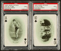 Boxing Cards:General, 1909 James Jeffries Playing Cards PSA 9 Mint Pair (2)....