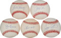 Autographs:Baseballs, Modern Hitting Greats Single Signed Baseballs Lot Of 5....