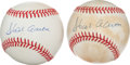 Baseball Collectibles:Balls, Hank Aaron Single Signed Baseballs Lot of 2....