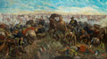 "Art, ""Custer's Last Rally"": The Epic 11 x 20 foot Oil Painting by JohnMulvany. ..."