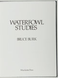 Books:Natural History Books & Prints, Bruce Burk. SIGNED/LIMITED. Waterfowl Studies. Winchester, 1976. Limited to 1000 numbered and signed copies. Sli...