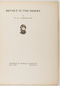 Books:Travels & Voyages, T. E. Lawrence. LIMITED. Revolt in the Desert. Doran, 1927.Large paper edition, limited to 250 numbered copies. ...